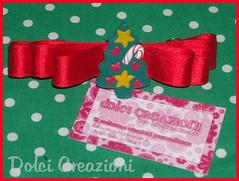 Fermaglio  Natalizio_Mod.1 (Patis_Creazioni) Tags: lana handmade bijoux fimo collane cernit pantofole accessori orecchini portafoto ideeregalo cerchiettipercapelli fermagliorecchiniideeregaloportafotobijouxfimohandmadecernitcollanelanapantofoleaccessoricerchiettipercapelli