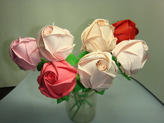 Paper Roses (The Gift of Gifts) Tags: flower art leaves rose paper stem origami happiness gift thankful valentines grateful kindness valentinesday kawasaki sincerity kawasakirose paperrose diamondrose origamiflower origamirose abigfave  platinumphoto artrose rosasdepapel  livrerose  happinessrose papierrose giftofgifts giyhng giftofgift giftofgiftsrose  rosadicarta piparardaigh roseenpapier papierstieg papprrose   paprovre papierrosen    rosedicarta  kertasmawar katgller  papirrua paprrzsa  letrrose raamatrose piparrose    cartearose rose karatasirose papperrose papurrose