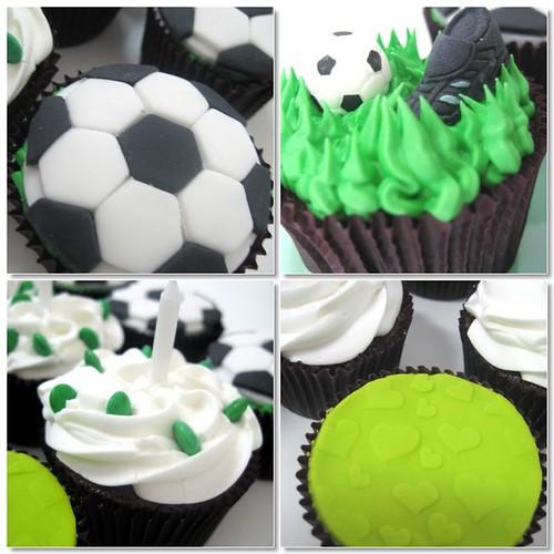 Futebol para olhos e paladar!!! por Love Cupcakes.