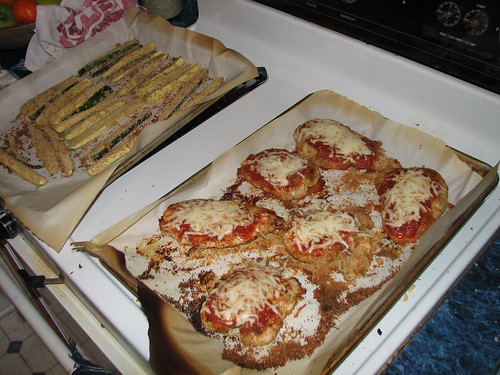 baked zucchini, baked chicken parmesan