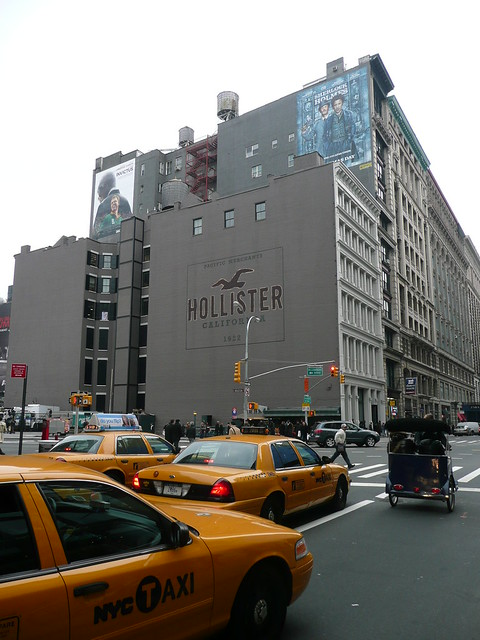 Ugly Hollister billboard instead of famous DKNY billboard by ilnycilnyc