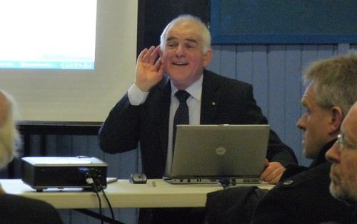 Jim Mather at Mid Argyll Pool Meeting 15 Jan 2010 Copyright Rebecca Martin