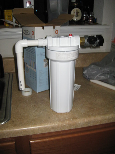 There's a lot of info on the net for building your own water filtration. One of our favorites is the Slow Sand Filter, because it uses every day common materials