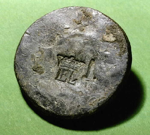 1 lb Elizabethan pan weight from the wreck