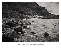Harbour of Valdemosa (Christian Frlich) Tags: sea bw espaa mountain island mar spain rocks seascapes montaa isla baleares balearic valdemosa leefilters christianfrolich