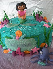 dora saves the mermaids (The Whole Cake and Caboodle ( lisa )) Tags: newzealand shells water starfish dora octopus mermaid whangarei doratheexplorer caboodle thewholecakeandcaboodle