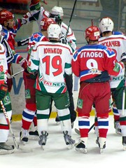 Members of Ak Bars Kazan and the legendary CSKA Moscow.