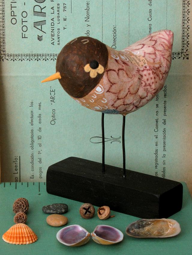 Paper mache bird by Gustavo Aimar