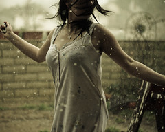 (ashley rose,) Tags: wet water rain 50mm drops dof bokeh nightgown 50mm18f ashleyrose canonrebelxsi ashleyrosex