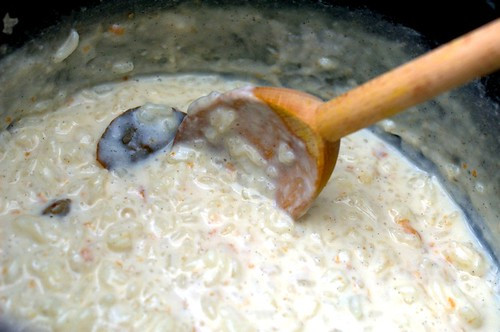 arborio rice pudding with Indian spices