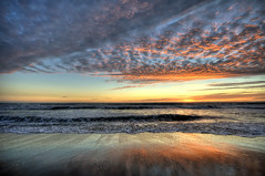 [フリー画像] [自然風景] [ビーチ/海辺] [海の風景] [夕日/夕焼け/夕暮れ] [水平線/地平線] [雲の風景] [アメリカ風景]    [フリー素材]