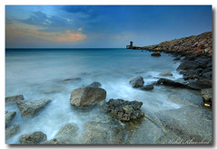 simple seascape (Explred#87) (mohammad khorshid (boali)) Tags: sea seascape water canon slow wide sigma ab nd shutter kuwait 1020mm simple q8  cokin        agle      hulaifa
