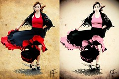 Still working on the Flamenco images. Which one is best now? (mfrissen) Tags: photography dancing models flamenco postprocessing bibble5