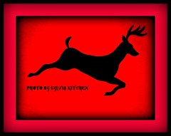 Deer Crossing (sylkky2) Tags: red black art graphics deer sensational deercrossing