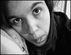 I'm..Tired. (FedericaPC) Tags: portrait bw selfportrait face blackwhite eyes bn occhi autoritratto federica ritratto bianconero viso biancoenero 52weeks igp