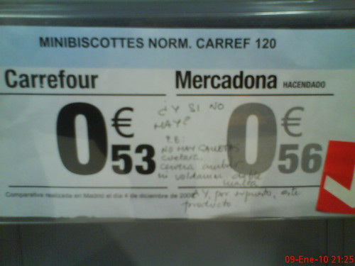 Carrefour vs Mercadona 02