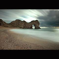 Durdle Door (Reed Ingram Weir) Tags: longexposure blue seascape beach arch south dorset coastline daytime jurassic ontour durdledoor d700 10stopfilter reedingramweir