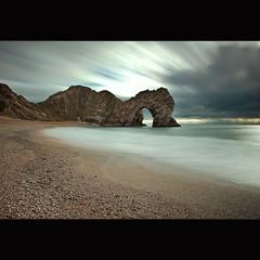 Durdle Door (Reed Ingram Weir) Tags: longexposure blue seascape beach arch south dorset coastline daytime jurassic ontour durdledoor d700 10stopfilter reedingramweir
