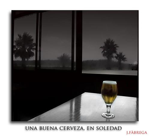 Una buena cerveza, en soledad
