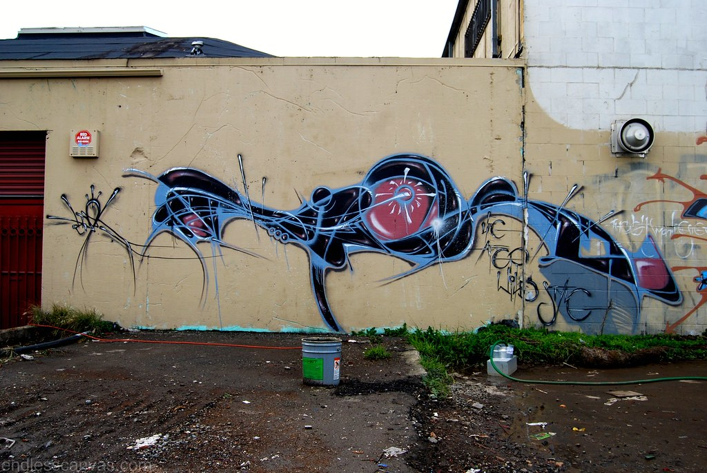 Graffiti Piece - Berkeley, CA.