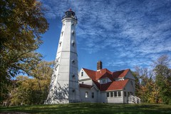 North Point Lighthouse (johndecember) Tags: park usa lighthouse museum wisconsin album milwaukee eastside 2008 lakepark hdr mke qtpfsgui photoscape mke20081018