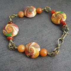 Autumn Swirl Lentil bracelet