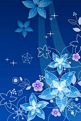 blue abstract flowers (andreabrite) Tags: flowers blue wallpaper plants plant abstract flower art floral illustration design pretty blossom girly background blossoms illustrations palm foliage pre backgrounds designs illustrator wallpapers vectors vector pixi iphone 320x480