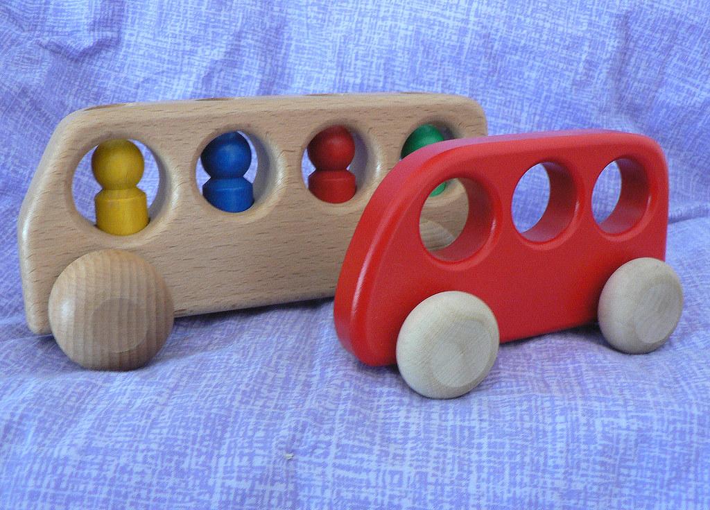 Germany: Preschool Toddler Wooden Buses