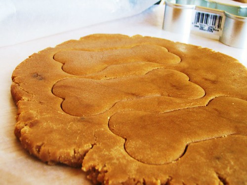 brown sugar cookies (cook's illustrated) in dog biscuit shapes - 23