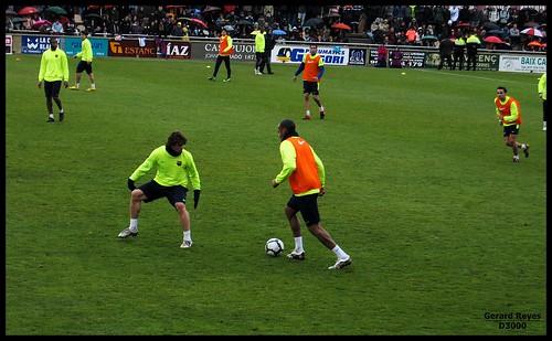 Juego de fútbol. Control del balón