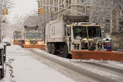 Snow Plows on Clinton Street (Diacritical) Tags: snow brooklyn geotagged 50mm brooklynheights sanitation plows 2470mmf28 d700 geo:lat=4069315 geo:lon=73992904