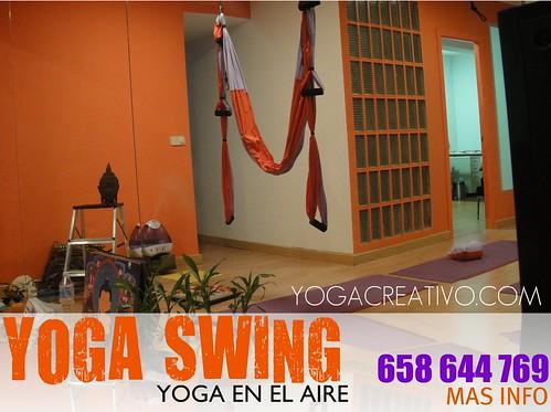 Descubre el Yoga Swing (Yoga aereo), en Madrid!