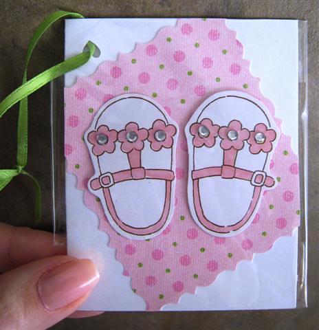 Baby girl gift enclosure card