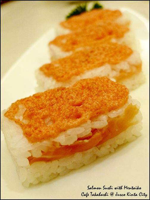 Salmon with Mentaiko