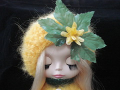 Flower Girl slouchy mohair hat