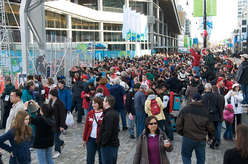 Crowds at the Olympic Cauldron