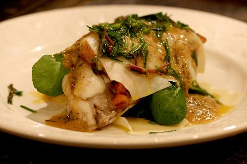 Monkfish liver lasagne
