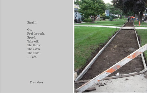 "Ryan Ross, ""Steal It,"" Everyday Poems for City Sidewalk."