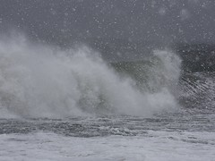 Pounding Surf (donsutherland1) Tags: winter beach nature water weather newjersey surf wind snowstorm nj capemay february blizzard atlanticocean wintersea forstudents forschools