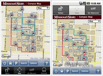 Google Maps API V3 Used In Missouri State University
