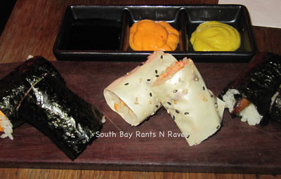 Hand Roll Trio at Sashi Manhattan Beach Happy Hour