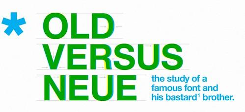 Helvetica:Old vs neue