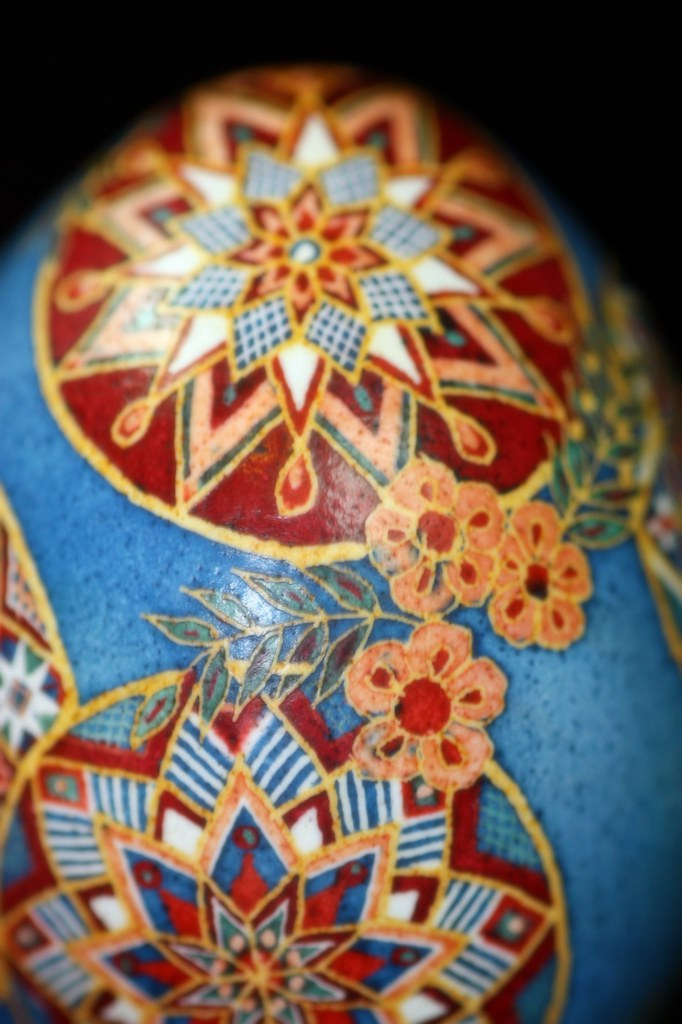 Pysanka Egg with Roses