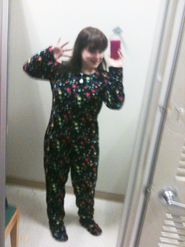 In which I regress and my mother buys me pajamas with feet!