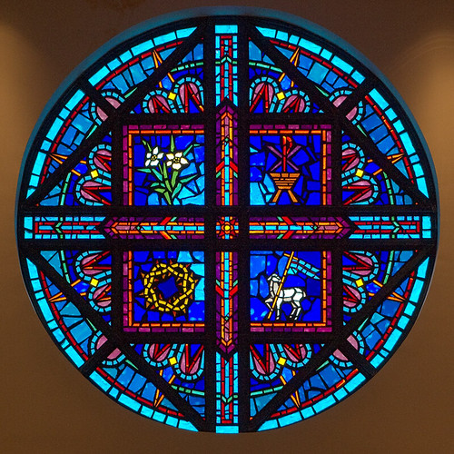 Holy Infant Roman Catholic Church, in Ballwin, Missouri, USA - rose window