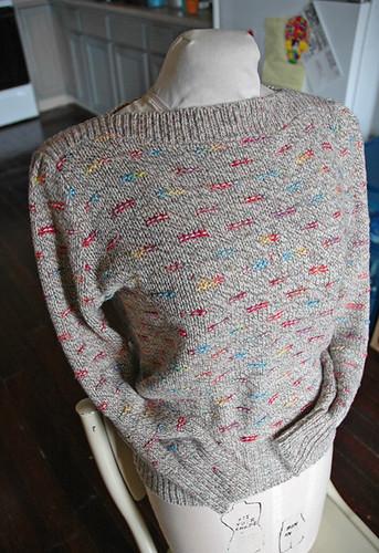 80's confetti sweater