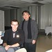 Guoyi Han (China) with a student at St. Norbert College
