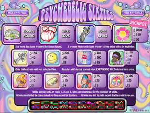 free Psychedelic Sixties slot mini symbol