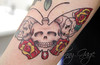 tasha skull butterfly tattoo Tattooed by Johnny
