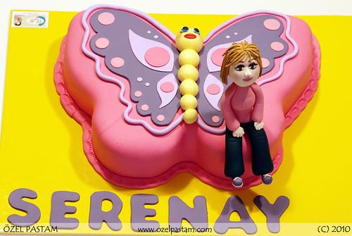 Pembe Kelebek Pasta / Pink Butterfly Cake